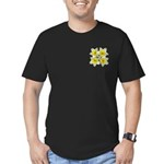 White daffodils Men's Fitted T-Shirt (dark)