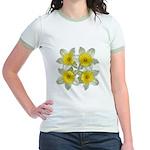 White daffodils Jr. Ringer T-Shirt