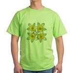 White daffodils Green T-Shirt
