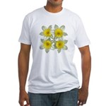 White daffodils Fitted T-Shirt