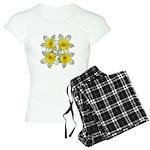 White daffodils Women's Light Pajamas
