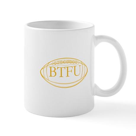 BTFU Gold Football Logo Mug