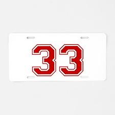 Unique The numbers Aluminum License Plate