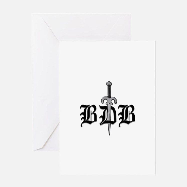 BDB Dagger Logo Greeting Card