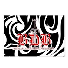 Black and White BDB Logo Postcards (Package of 8)
