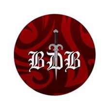 "BDB Red 3.5"" Button"