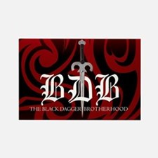 Red Bdb Logo Rectangle Magnet Magnets