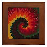Tie Dye Art Framed Tile