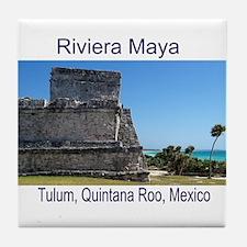 Riviera Maya, Tulum, QR, MX R Tile Coaster