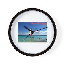 Playa del Carmen, MX Sailboat Wall Clock