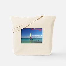 Playa del Carmen, MX Sailboat Tote Bag