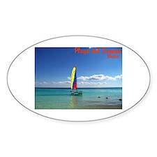 Playa del Carmen, MX Sailboat Decal