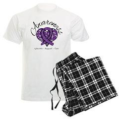 Cystic Fibrosis Heart Men's Light Pajamas