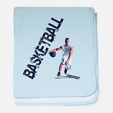Basketball Dribble baby blanket
