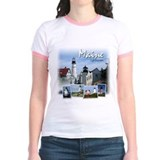 Maine lighthouse Jr. Ringer T-Shirt