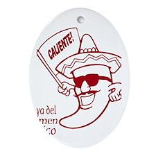 Playa del Carmen, Caliente! R Ornament (Oval)