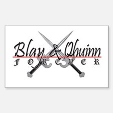Blay and Qhuinn Forever Rectangle Decal
