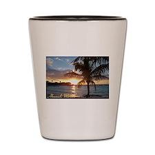 Akumal Sunrise - Palm Tree, Y Shot Glass