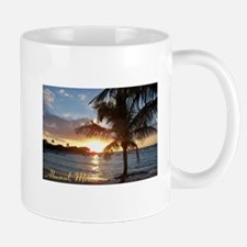 Akumal Sunrise - Palm Tree, Y Mug