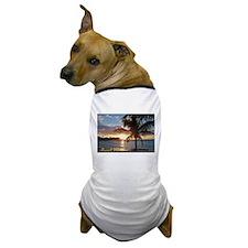 Akumal Sunrise - Palm Tree, Y Dog T-Shirt