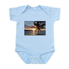Akumal Sunrise - Palm Tree, Y Infant Bodysuit