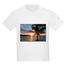 Akumal Sunrise - Palm Tree, Y T-Shirt