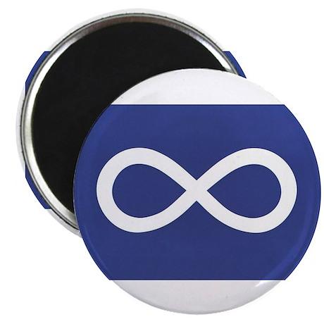 Metis Flag Round Magnet