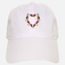 Heart of Roses Baseball Baseball Cap