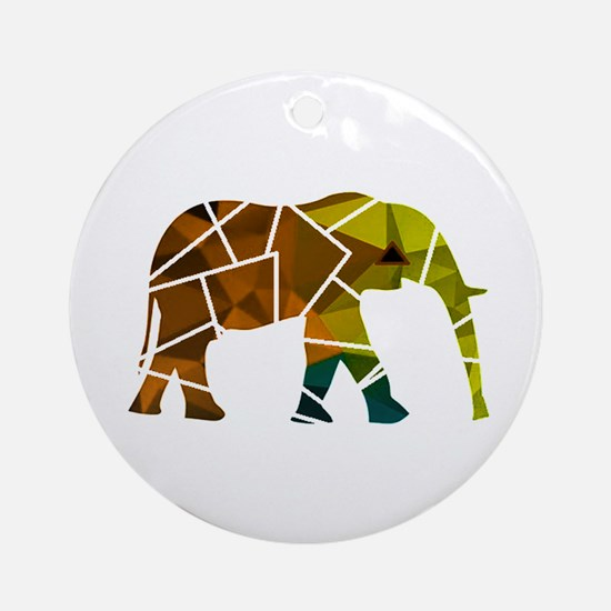ELEPHANT Round Ornament