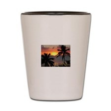 Puerto Rico Sunset, Two Palms Shot Glass