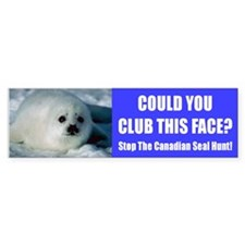 Canadian Seal Hunt Bumper Bumper Sticker