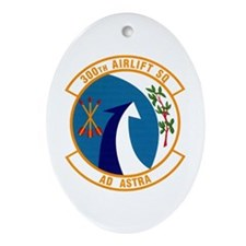 300th Airlift Squadron Oval Ornament