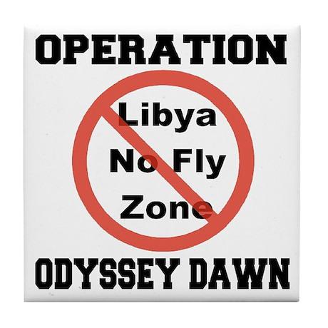 Operation Odyssey Dawn Tile Coaster