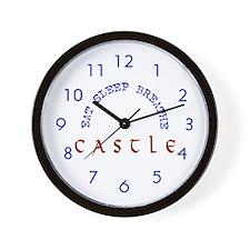 Eat Sleep Breathe Castle Wall Clock