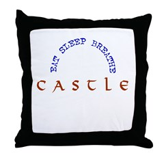 Eat Sleep Breathe Castle Throw Pillow