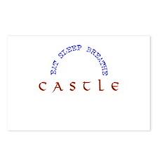Eat Sleep Breathe Castle Postcards (Package of 8)