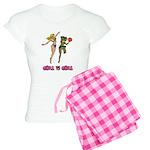 Girl VS Girl Basketball Women's Light Pajamas