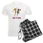 Girl VS Girl Basketball Men's Light Pajamas