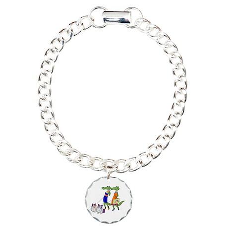 Gator Girls w/ Dawgs Charm Bracelet, One Charm