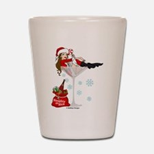 Santa Girl Martini Shot Glass