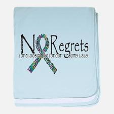 No Regrets3 baby blanket