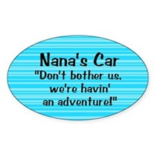 Nana's Car - Oval Decal
