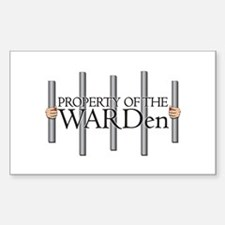Property of the WARDen Rectangular Decal