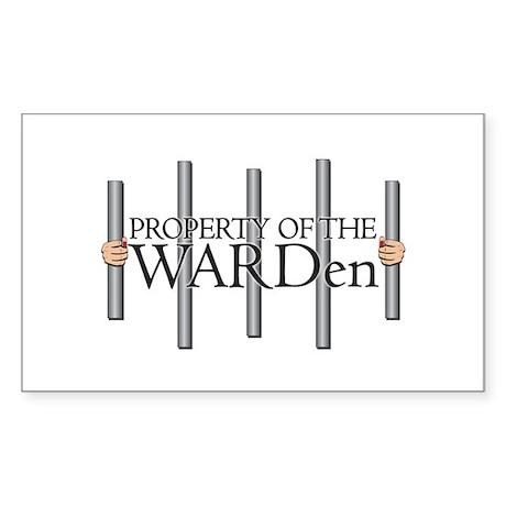 Property of the WARDen Rectangular Sticker