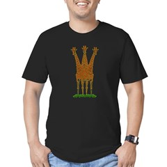 3 HEADED GIRAFFE Men's Fitted T-Shirt (dark)