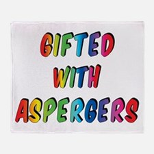 Gifted with Aspergers Throw Blanket