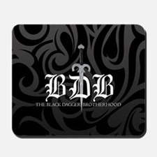 BDB Dagger Logo Black and Gray Mousepad
