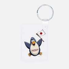 Japan Penguin Aluminum Photo Keychain