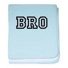 Bro College Letters baby blanket