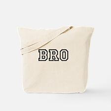Bro College Letters Tote Bag